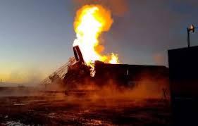 Военизированный отряд из Бугуруслана принял участие в тушении крупного пожара